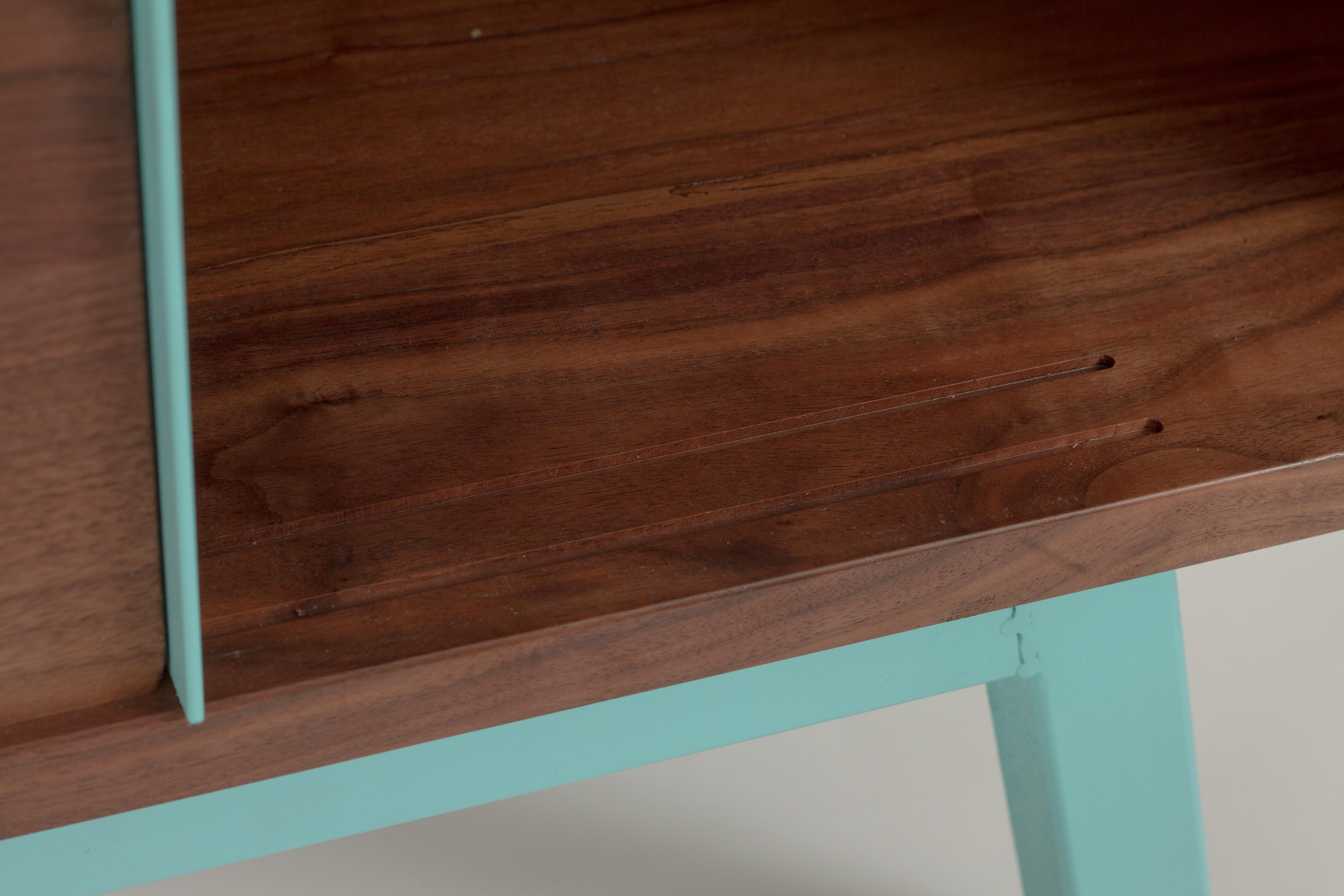 Solid Walnut Media Console Credenza Mid Century Modern Mcm Living Room Vanport Furniture