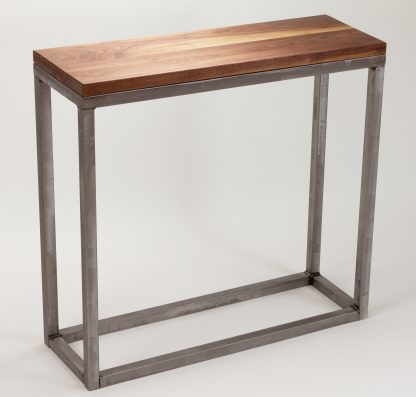 Modern Metal Box Frame Entry Table/Console Solid Wood Living Room Custom  Table