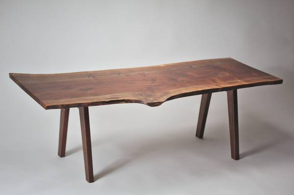Mcm Live Edge Walnut Coffee Table Solid